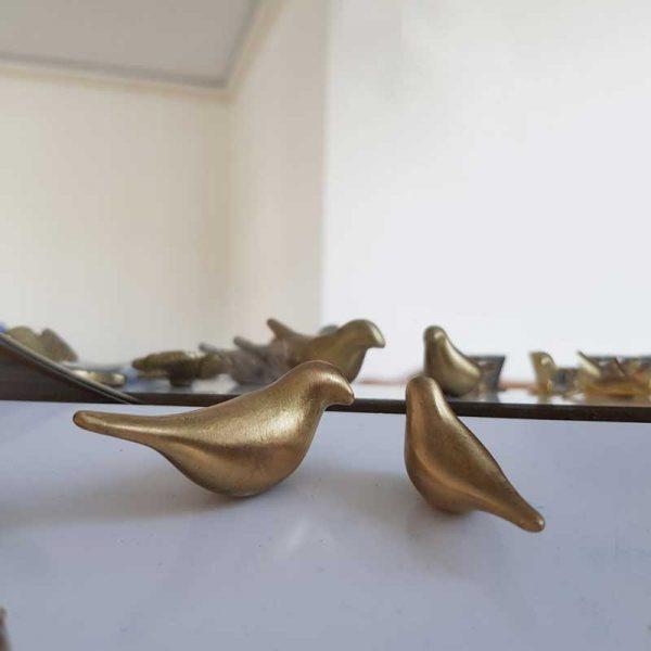 گنجشک های برنجی طلایی